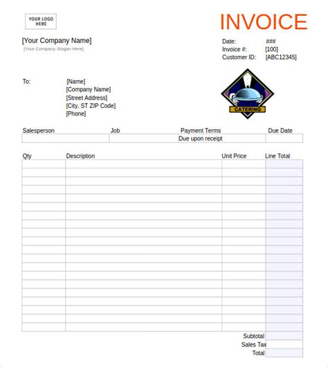 microsoft invoice template 14 download free documents