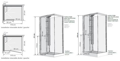 cabine de horizon 110 receveur faible hauteur porte