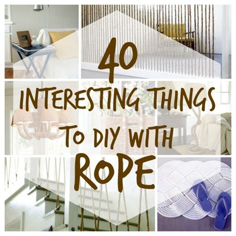 rope craft projects interesting diy projects to make with rope home and garden