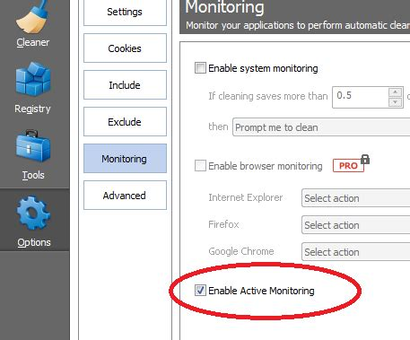 ccleaner active monitoring loza s blog remove ccleaner in system tray when computer