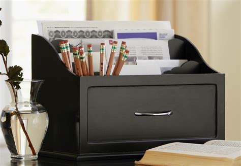 desk mail organizer new black wooden desk organizer