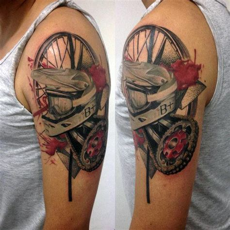 dirt bike tattoos 70 motocross tattoos for dirt bike design ideas