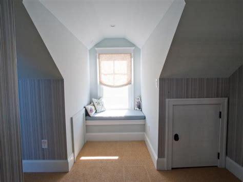 small window seats cozy attic reading nook hgtv