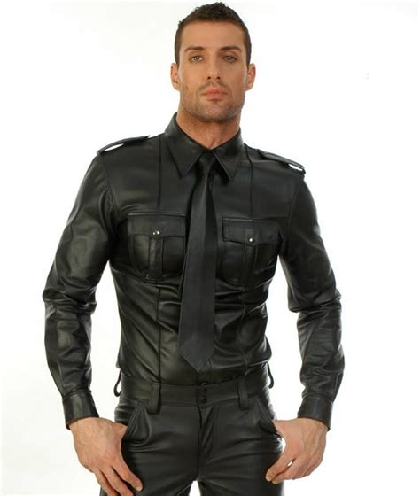 http www mensleatherfashion in leather shirts