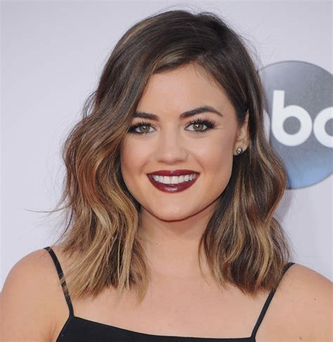 lob haircut wiki lucy hale lucy hale ombre short hair and long bob