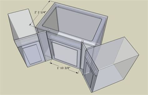 corner sink base ideas