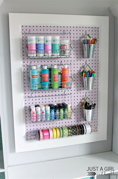 how to build a pegboard office supply organizer trash to treasure a pegboard makeover fabulously