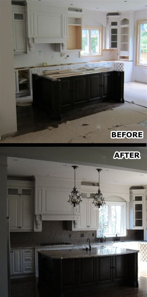 the before and after photos of a complete home renovation