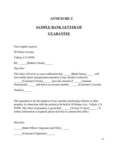 Guarantee Letter For Service Request For Bank Guarantee Letter Format Letter Format 2017