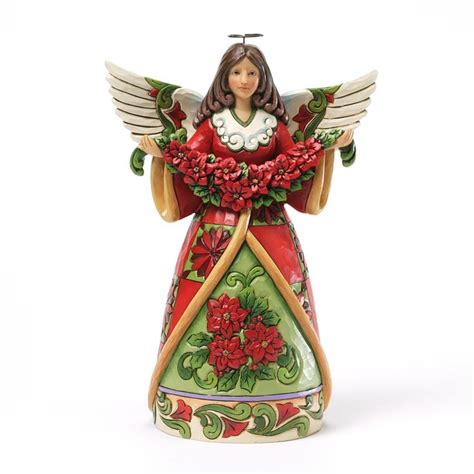 christmas beauty poinsettia angel figurine jim shore