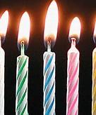 Animated Birthday Candles