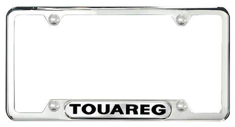 zvw355016 license plate frame touareg polished
