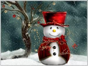 Christmas computer wallpapers christmas snowman wallpapers for