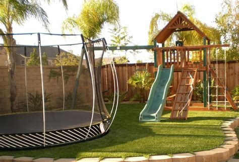 Small Backyard Playground Ideas This Is A Really Cool Troline House Pinterest