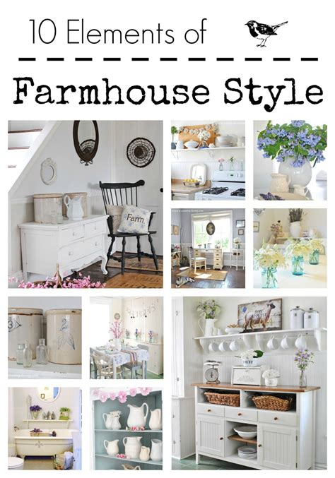 10 elements of farmhouse style town country living