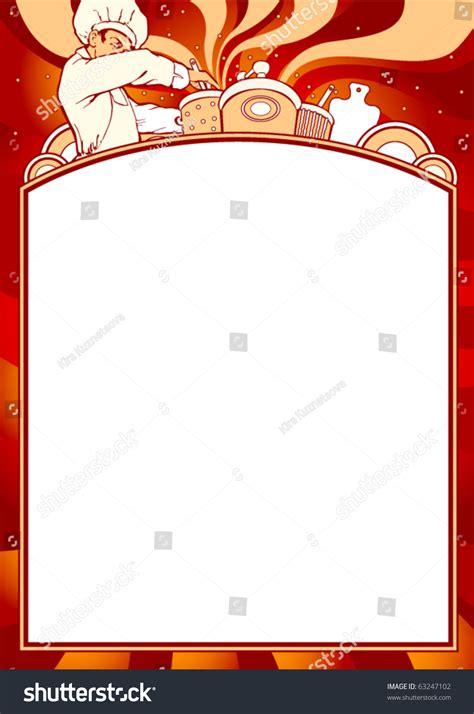 Blank Theme Template Empty Blank Menu Any Cuisine Theme Stock Vector 63247102 Shutterstock