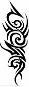 Vertical Tribal Tattoos Designs