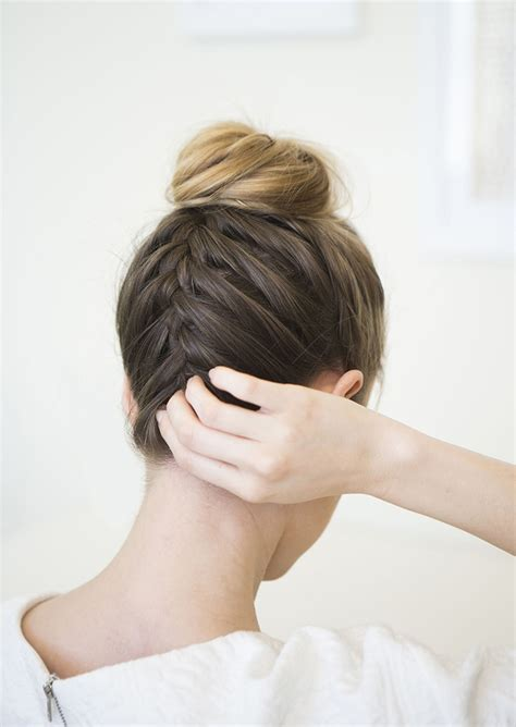 tutorial upside hairbun newbie upside down braided bun camille styles