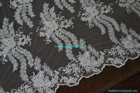 white beaded lace fabric quality exquisite beaded lace fabric bridal wedding white