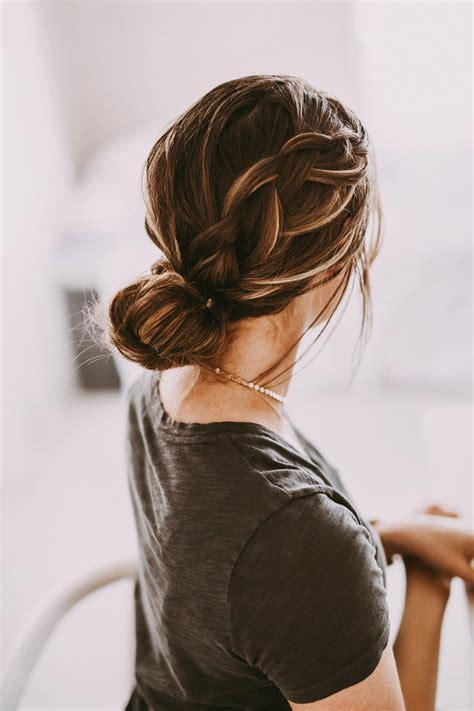 messy bun hairstyles thatll