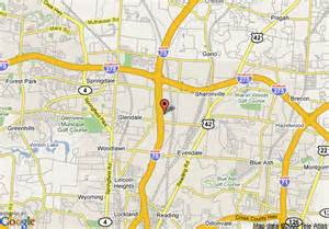 us map cincinnati ohio map of garden inn cincinnati sharonville cincinnati