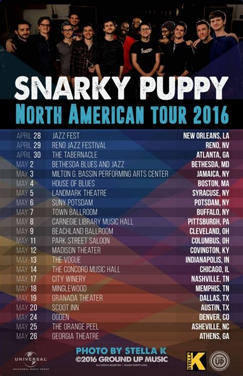 snarky puppy boston snarky puppy releases american tour dates