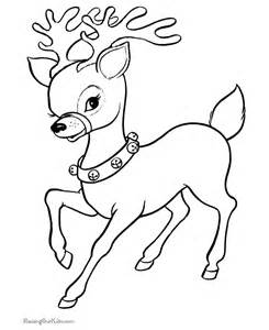 Christmas reindeer coloring pages for kids