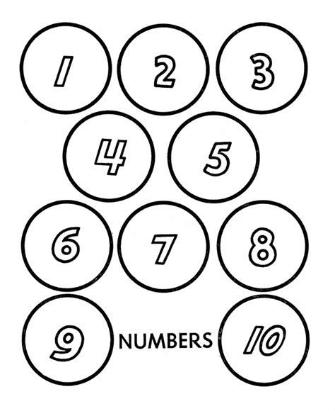 printable numbers on circles counting coloring pages az coloring pages