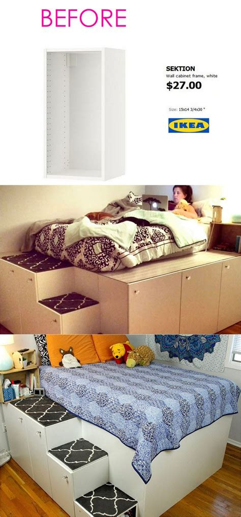 ikea hacks platform bed 20 smart and gorgeous ikea hacks great tutorials