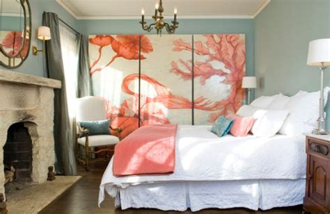Coral And Blue Bedroom by 50 Bedroom Fireplace Ideas Fill Your Nights With Warmth