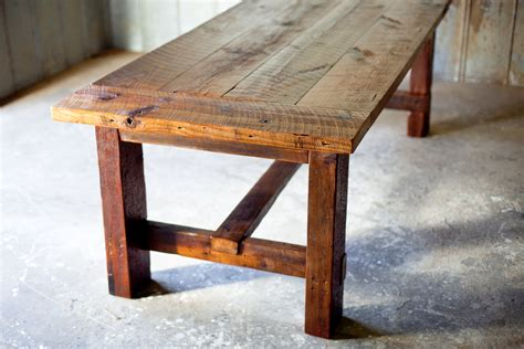 broad farm table reclaimed wood farm table