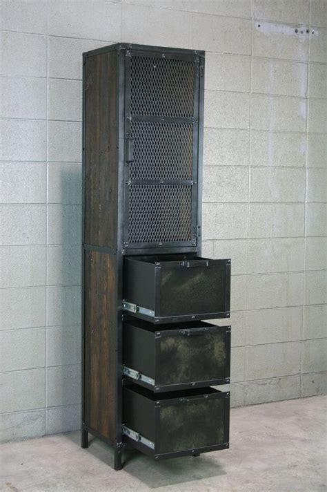 industrial cabinet reclaimed wood pantry storage modern