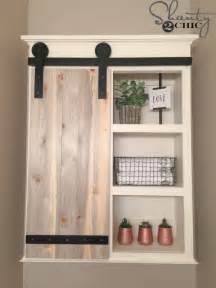 Diy Kitchen Cabinet Decorating Ideas diy sliding barn door bathroom cabinet shanty 2 chic