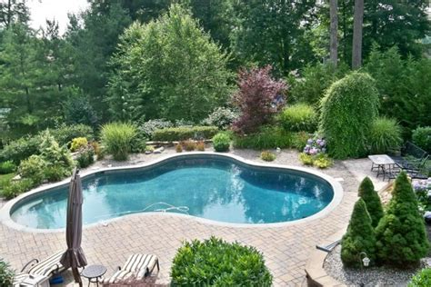 inground pools for small yards landscaping ideas for semi inground pool joy studio