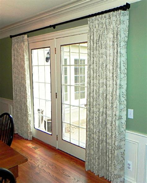 how to hang curtains on french doors best 25 french door curtains ideas on pinterest door