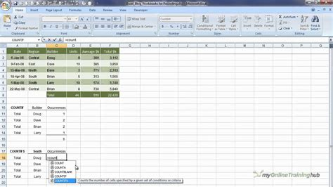 tutorial excel countif excel 2007 countif countifs video tutorial youtube