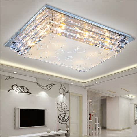 Ceiling Light For Large Living Room Modern Minimalist Ceiling Light E27crystal Led Ceiling Light For Living Room Diningroom Led