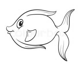 Outline Shapes Of Fish by Fisk Skitse Vektor Colourbox