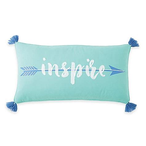 throw pillows for bed inspire me buy brooke inspire oblong throw pillow in white blue from