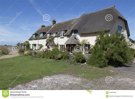 pretty cottages at porlock weir stock photo image 60404950