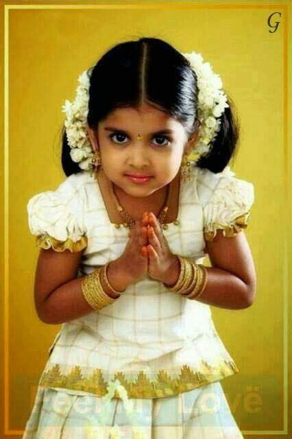 cute kerala baby girl kid in kerala traditional dress cute kids in indian wear