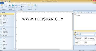membuat web kus membuat template blog dengan wysiwyg web builder 9