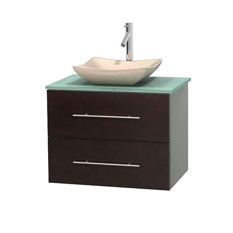 Green Vanity Top by Wyndham Collection Centra 30 In Vanity In Espresso With
