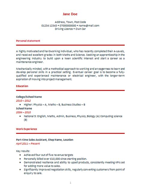 physics cv template writing a personal statement exles for cvs