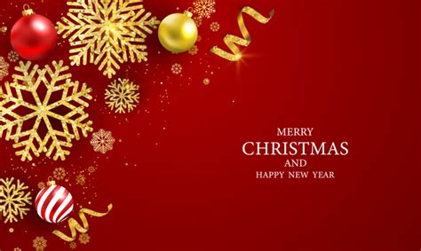 merry christmas  happy  year greeting card premium vector