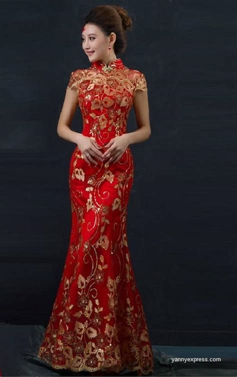 the styles of chinese wedding dresses yannyexpress
