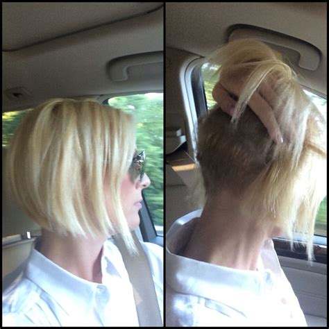 Bob Haircuts Shaved Underneath   messy blonde bob shaved underneath easy styling short