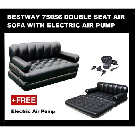 ready stock bestway   inflatable air sofa bed mattress