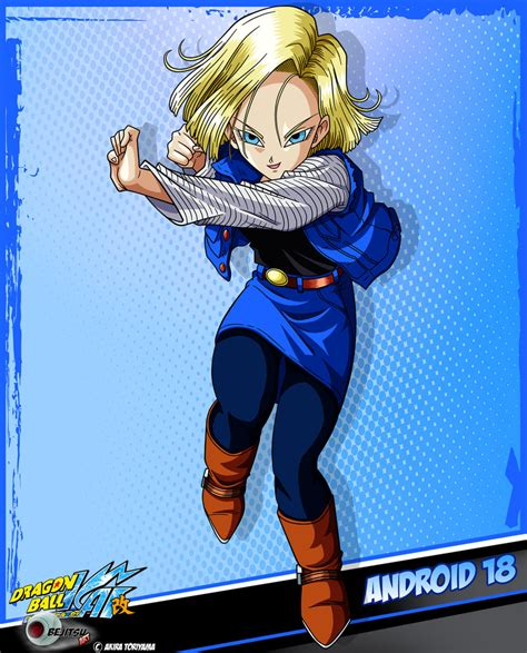 android z dbkai card 16 android 18 by bejitsu on deviantart