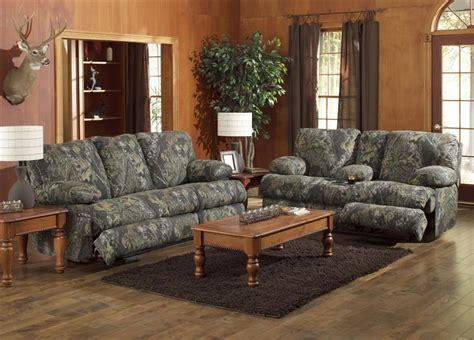 camo reclining sofa wintergreen reclining sofa in mossy oak camouflage fabric